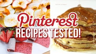 Healthy Pinterest Recipes TESTED! 3-ingredients or Less!