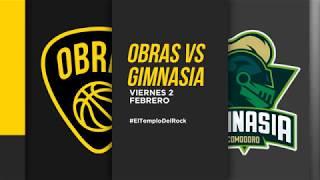 Highlights Obras Basket 91-93 Gimnasia (02-02-18)