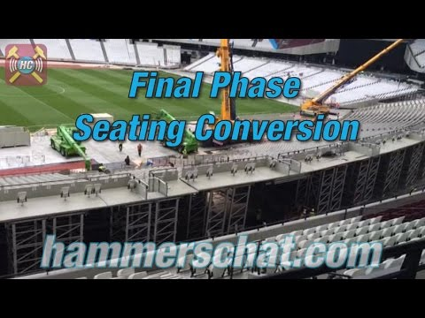 Olympic Stadium Latest | Seating moves into position