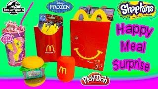 Shopkins Season 3 Mcdonalds Happy Meal Playdoh Surprise Egg Disney Frozen MLP Jurassic World Toys