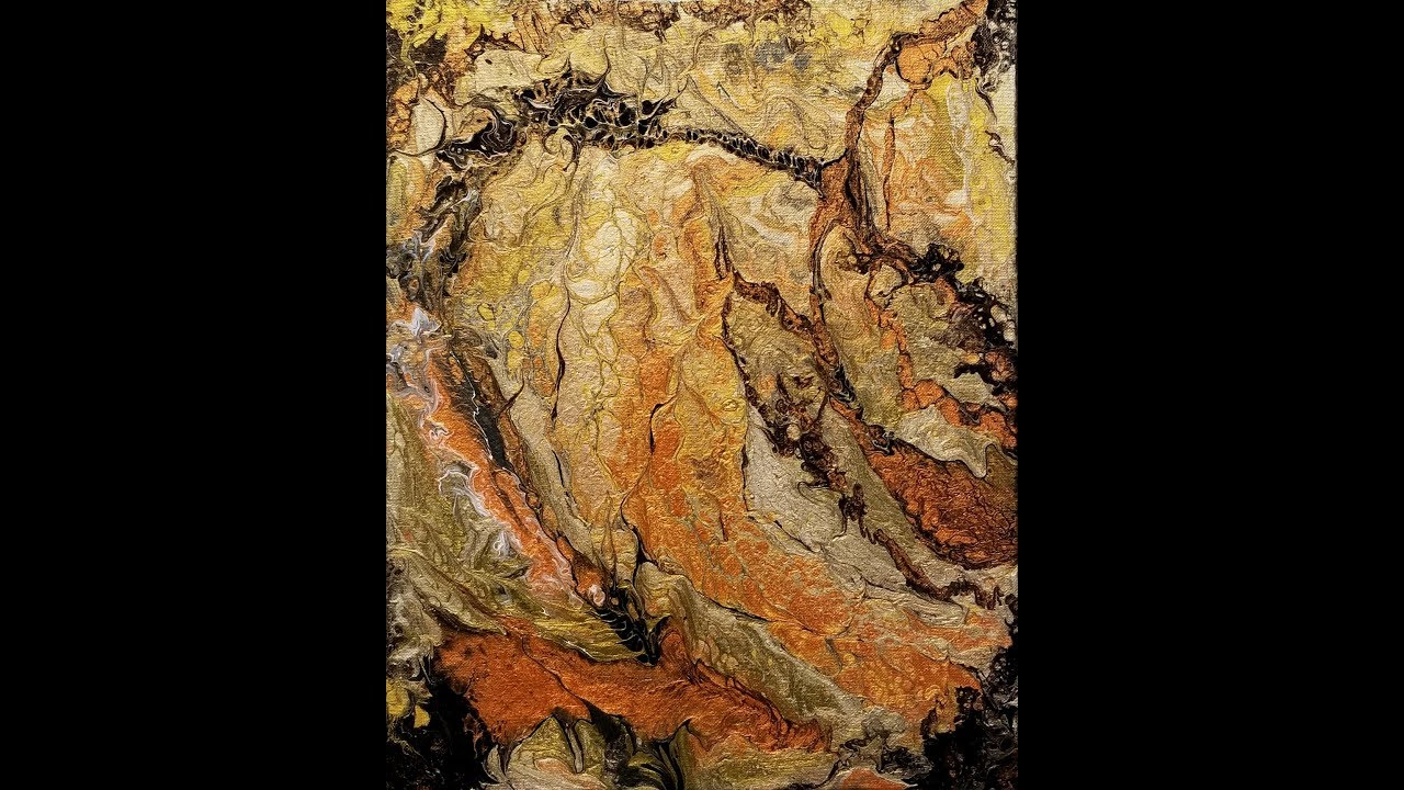 (83) Acrylic Dirty Pour Using Mixed Brands Metallics With Owatrol With  Sandra Lett 041218