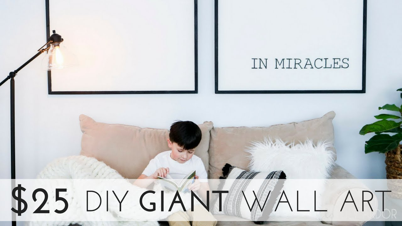 How To Make Minimalist Giant Art For Under 25