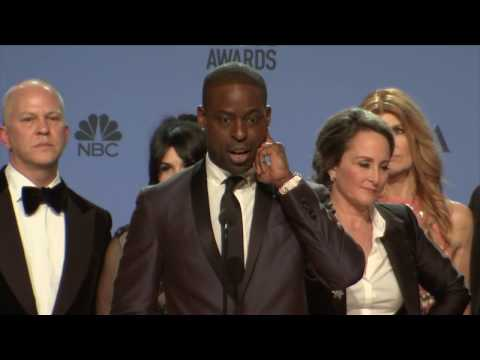 Thumbnail: Golden Globes 2017 Sarah Paulson and Cast Backstage Interview