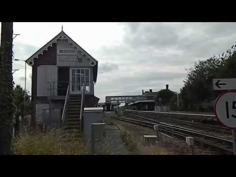 East Mids train arrives at Sleaford East Railway Station Lincolnshire BR
