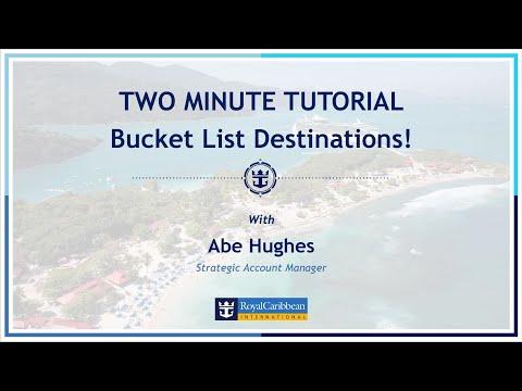 Two Minute Tutorial: Bucket List Destinations