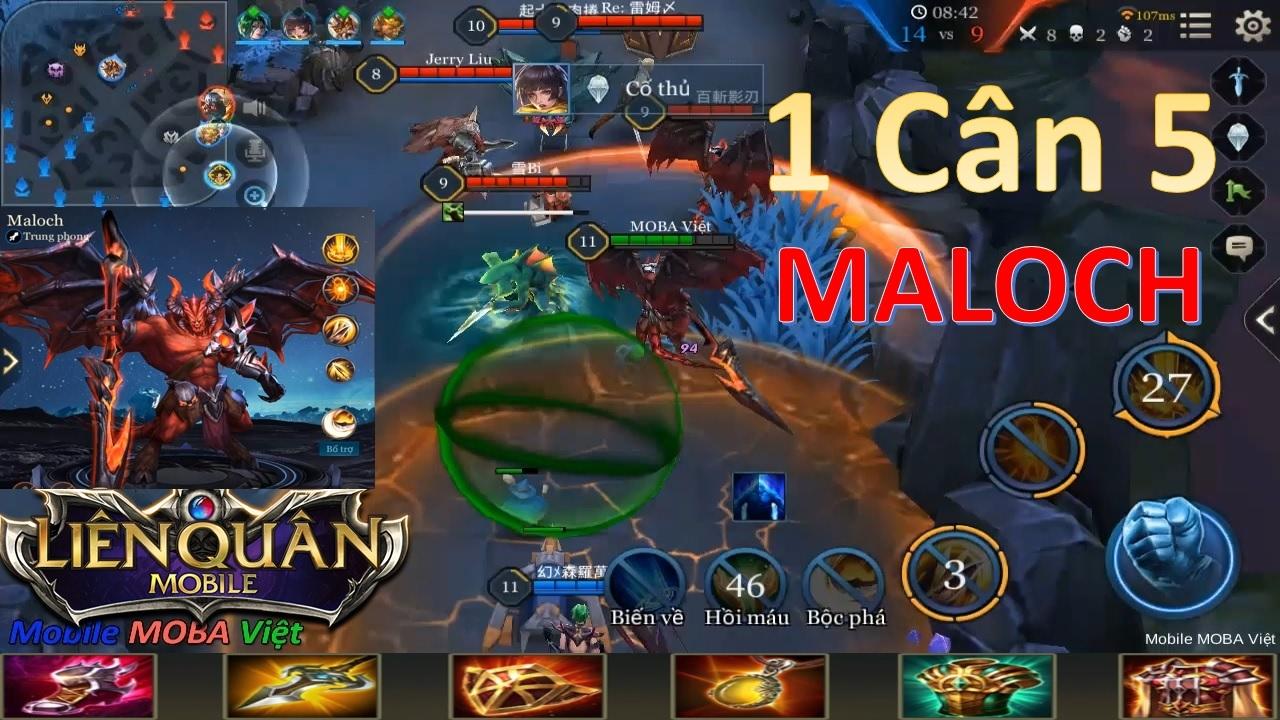 """Liên quân mobile: Maloch - Ma vương quản ngục """"Cân 5 được không?"""" - YouTube"""