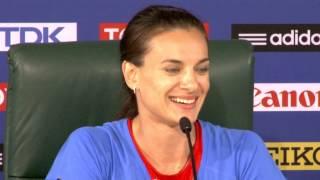 Чемпионат мира по легкой атлетике в Москве 2013. Елена Исинбаева: