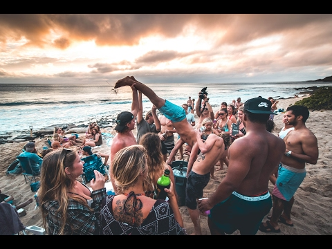 HAWAII BEACH PARTY 2017 | YOKES WEST SIDE OAHU | VLOG 46