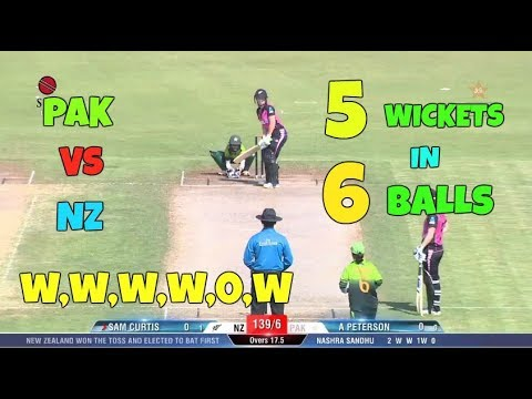 Pakistan Women Gets 5 Wickets In 6 Balls - W W W W 0 W - Pak Wm vs Nz Wm 9 Nov 2017 thumbnail