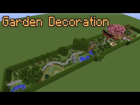 Minecraft Garden Decoration Ideas!