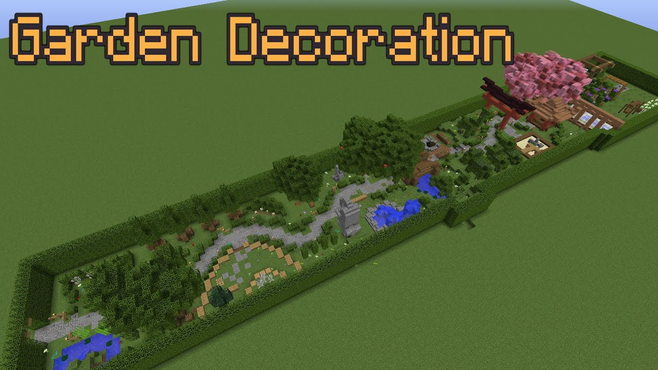 minecraft garden decoration ideas! - youtube