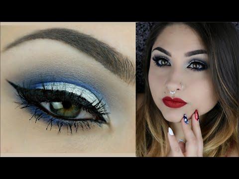 Dramatic Fourth Of July Smokey Eye Makeup Tutorial | BeautyByJosieK