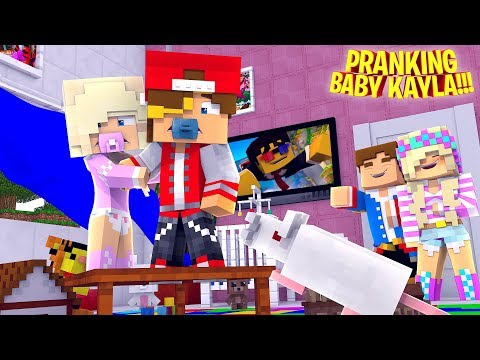 LITTLE DONNY PRANKS BABY KAYLA IN SCHOOL!! Minecraft - Little Donny Adventure