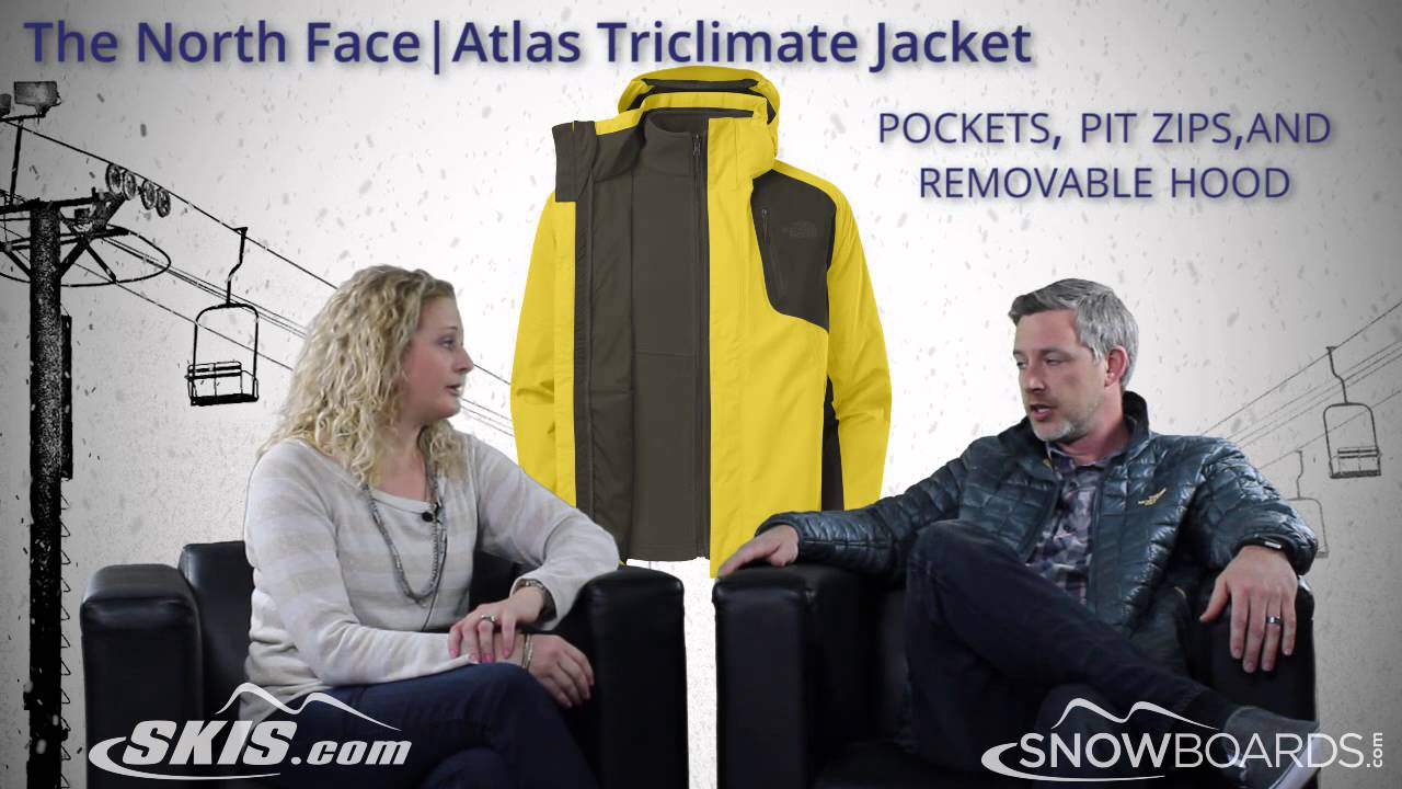 8236ff8dd 2015 The North Face Atlas Triclimate Mens Jacket Overview by SkisDOTcom and  SnowboardsDOTcom