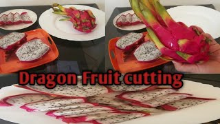 How To Cut Drągon Fruit // Dragon Fruit Cutting And Cleaning