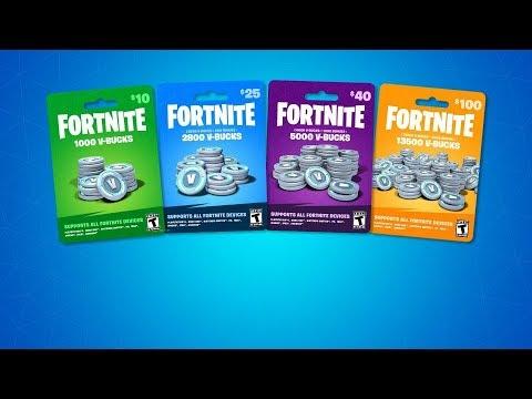 *NEW* Fortnite V-Bucks Gift Cards...