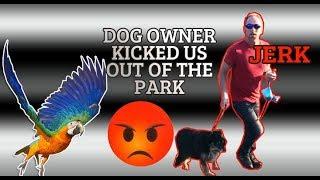 VIOLENT DOG OWNER STARTS FIGHT IN THE PARK *bird hater*