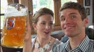 Thomas Muller and with his wife Lisa Muller