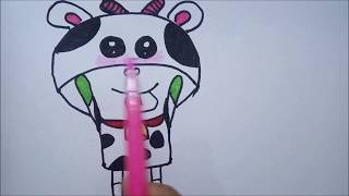 How To Draw A Cow  and Learning Coloring For Kids 2017