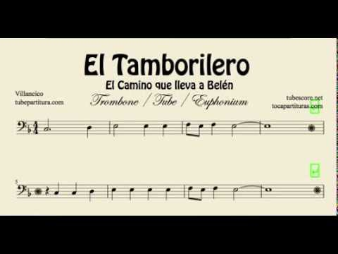 The Little Drummer Boy Sheet Music for Trombone El Tamborilero