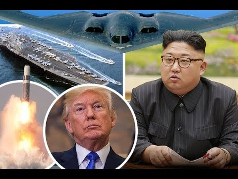 North Korea SURROUNDED by US warships, bombers, missiles and 80,000 soldiers READY