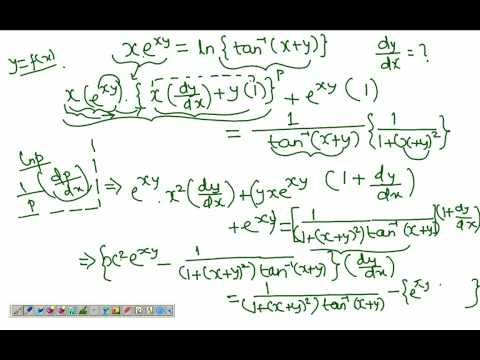Implicit Differentiation Example 5 Youtube