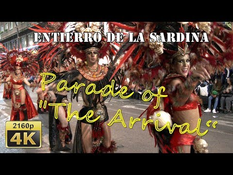 "Parade of ""The Arrival of the Sardine"" in Murcia 2018 - Spain 4K Travel Channel"