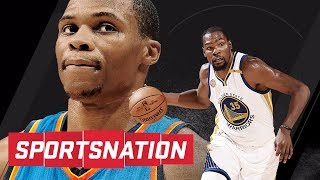 Did russell westbrook purposely sign extension on kevin durant's birthday? | sportsnation | espn