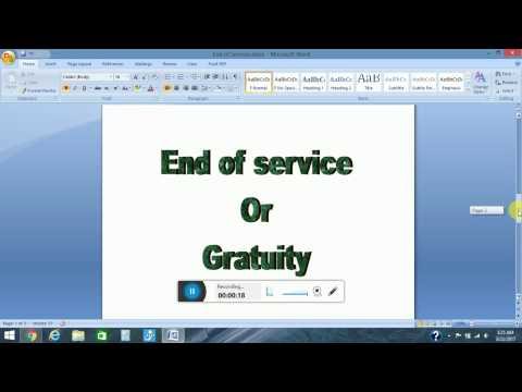 How to Calculate End of Service or Gratuity[Labor end of service Benefits Gratuity explained]