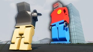 DEFENDING LEGO CITY FROM BOBZILLA! - Brick Rigs Multiplayer Gameplay - Lego Police Roleplay