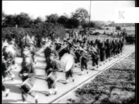 WWII, USA Women's Army Corps, WAC, Arrive in the UK, Archive Footage