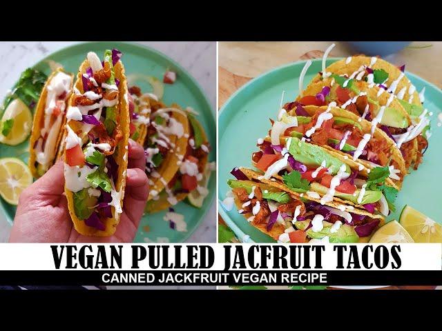 Vegan Jackfruit Tacos - Jackfruit tacos al pastor - Vegan Tacos recipe with Jackfruit