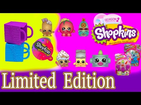 Shopkins RARE LIMITED EDITION Season 1  2 Mystery Surprise Blind Basket Opening Toy Unboxing