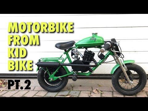 Mini Motorbike from Kid Bike with 80cc Bicycle Engine Kit - Part 2
