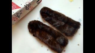 шьем меховые рукавички без швейной машинки.Часть 2.Видео урок.