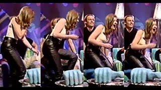 Jane Danson in Leather Trousers