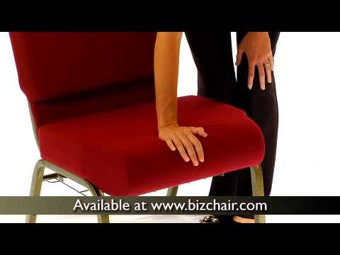Hercules Series 21 Inch Extra Wide Church Chair With 4 Inch Thick Seat  (FD CH0221 4 GV 3169 GG)   YouTube