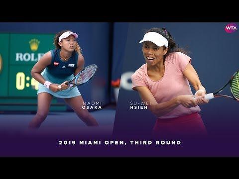 Naomi Osaka vs. Su-Wei Hseih  | 2019 Miami Open Third Round | WTA Highlights
