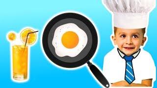 Видео для детей. Как вкусно пожарить яйца с KuSaNiKi