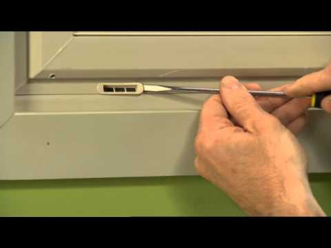 How to Replace a Weep Hole Cover on a Vinyl Window - YouTube