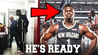 INCREDIBLE ZION WILLIAMSON INJURY UPDATE! OFFICIALLY READY TO RETURN ACCORDING TO PELICANS