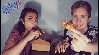 Eating Spicy Wings For 100 Subs !!