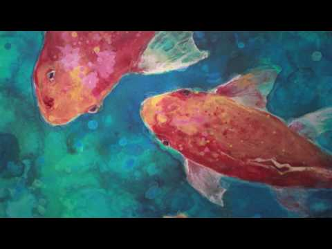 Mixed Media Koi - Acrylic Painting Workshop - Roberta Laliberte