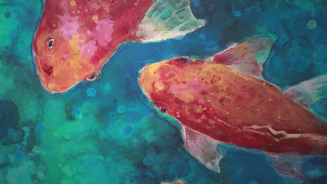 Mixed Media Koi - Acrylic Painting Workshop - Roberta Laliberte ...
