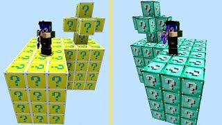 ILHA LUCKY BLOCK vs ILHA LUCKY BLOCK AZUL (MINECRAFT)