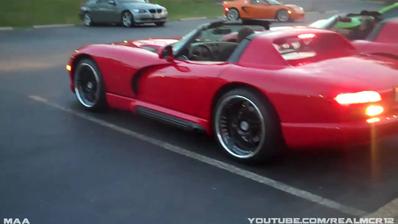 2x Dodge Viper Rt 10 Engine Start Up Youtube