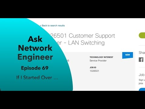 ANE Series Episode 69: If I Started Over as a Network Engineer
