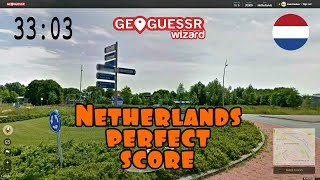 Perfect score on Geoguessr (Netherlands version)