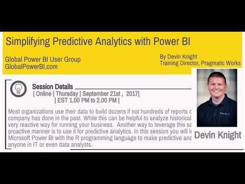 Simplifying Predictive Analytics with Power BI by Devin Knight