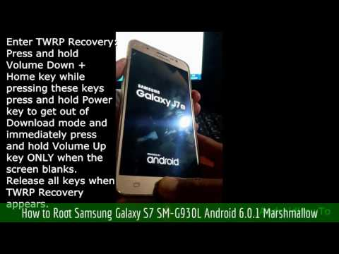 How to Root Samsung Galaxy S7 SM-G930L Android 6.0.1 Marshmallow